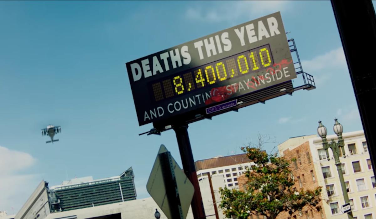 Songbird death toll , pandemic movie