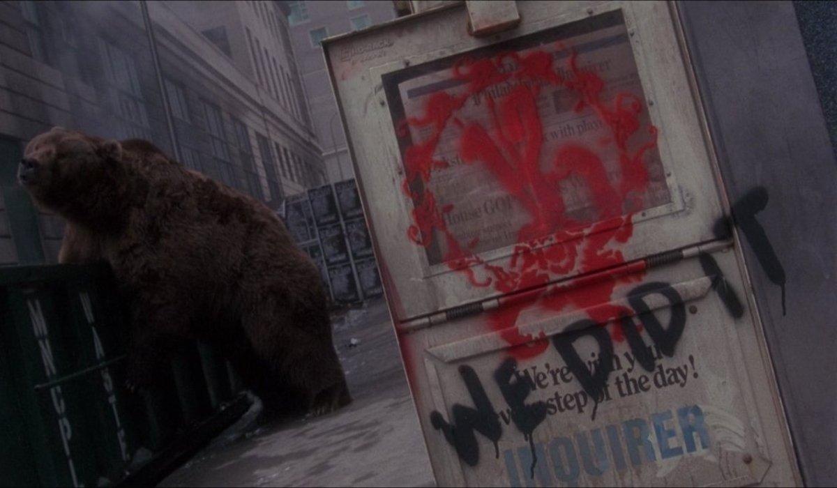 12 Monkeys a bear on the streets of Philadelphia