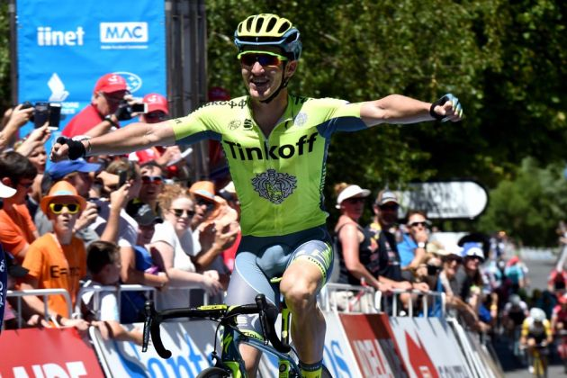 Jay McCarthy wins stage 2 of the 2016 Tour Down Under