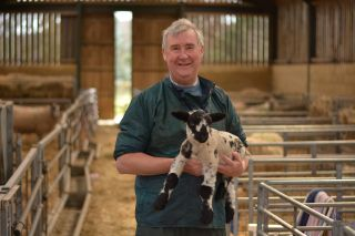 Vet Peter Wright with some lambs in The Yorkshire Vet