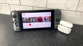Nintendo Switch with Apple AirPods Pro