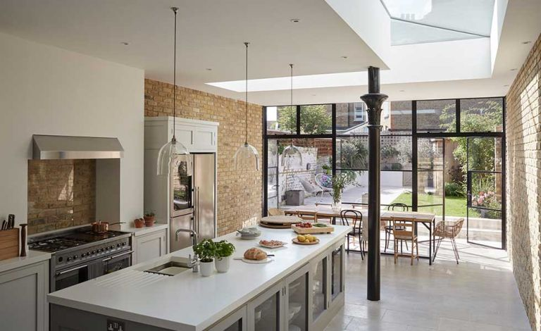 real home a bright industrial style kitchen diner extension real rh realhomes com kitchen diner extensions with bifold doors kitchen diner extensions before and after