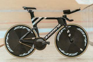 Ashton Lambie's Argon 18 track bike in full