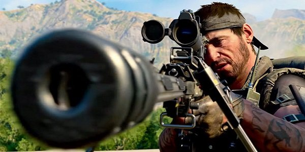 Call of Duty Sniper viewing down a scope