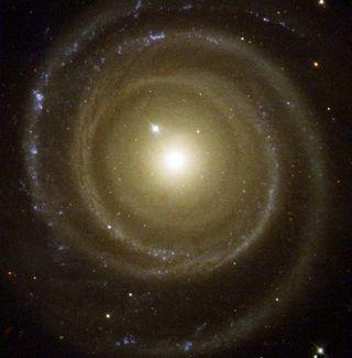 Spiral Galaxy Winds Backwards