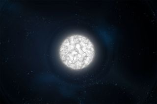 White dwarfs are tightly compressed balls of glowing gas left after some stars die.