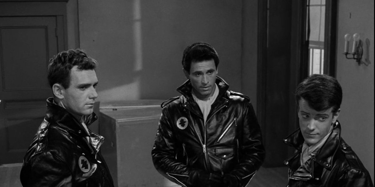 Tough Guys in Black Leather Jackets