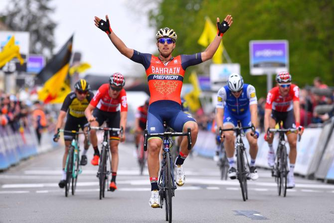 Sonny Colbrelli (Bahrain-Merida) wins de Brabantse Pijl