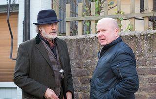 Aidan wants his cash – will Phil Mitchell break under the pressure?