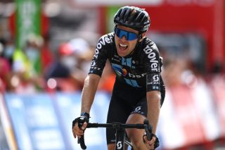 EL BARRACO SPAIN AUGUST 29 Chris Hamilton of Australia and Team DSM crosses the finishing line in third place during the 76th Tour of Spain 2021 Stage 15 a 1975km km stage from Navalmoral de la Mata to El Barraco lavuelta LaVuelta21 on August 29 2021 in El Barraco Spain Photo by Stuart FranklinGetty Images