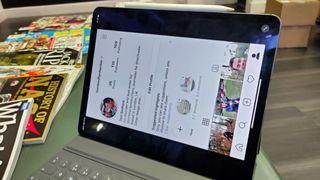Den nuvarande appen för Instagram på iPad