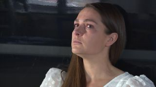 Hollyoaks Sienna looking scared