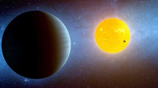 The Kepler-10 system, with its three known planets, was one of the targets of a recent SETI search for radio signals.