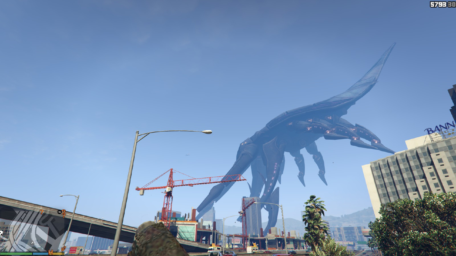 gta 5 mod unleashes reaper from mass effect