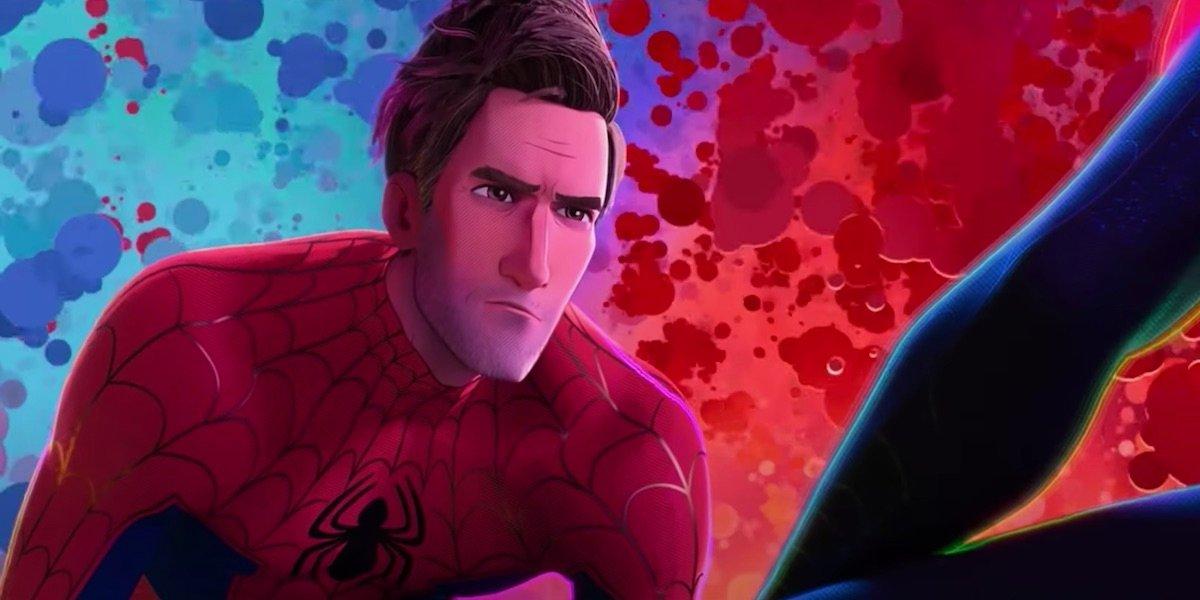 Jake Johnson's Peter B. Parker in Spider-Man: Into the Spider-Verse