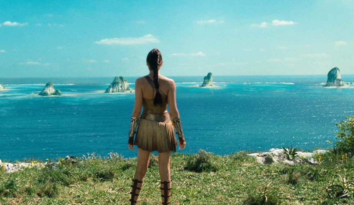 Gal Gadot on Themyscira in Wonder Woman
