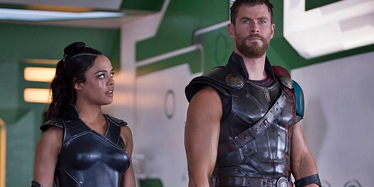 Valkyrie and Thor in Thor: Ragnarok Marvel Studios