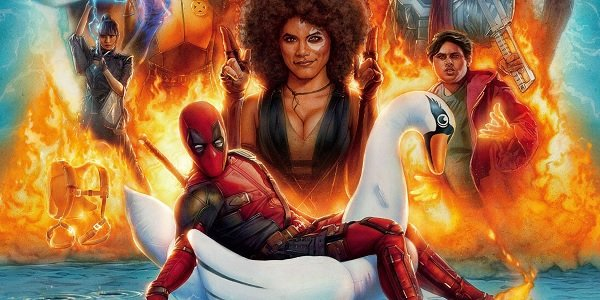 Deadpool 2 explosive painted poster art