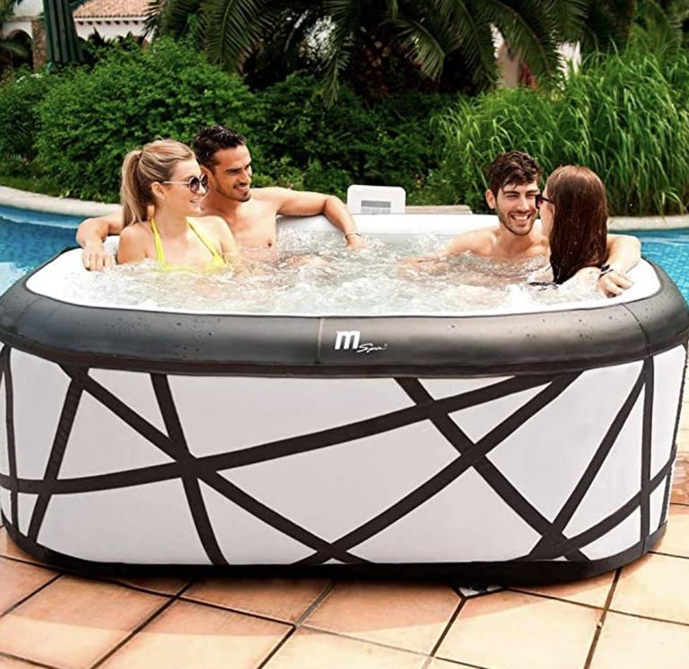 Hot tub deals: MSPA BOLD LOOKING Square Soho Bubble Inflatable Hot Tub