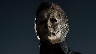 Michael Myers standing outside in Halloween Kills.
