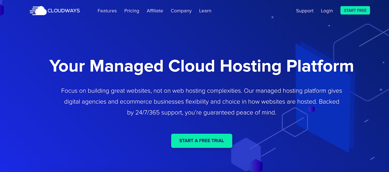 Cloudways' website