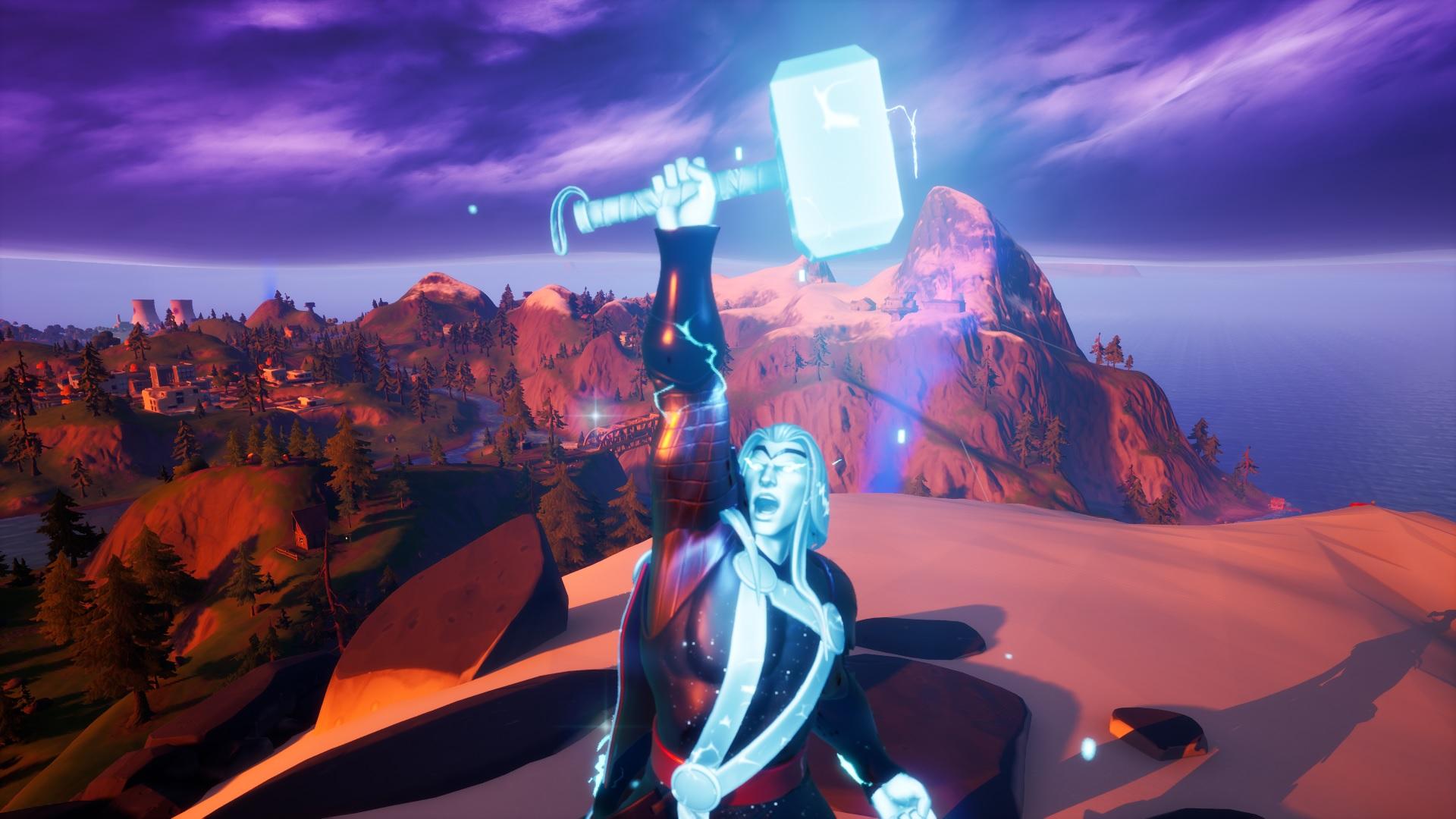 Thor Awakening Challenge Guide How To Get The God Of Thunder Emote In Fortnite Pc Gamer