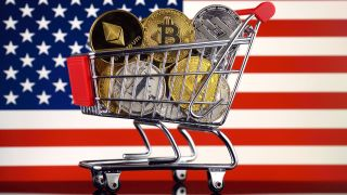 Cryptocurrency Bitcoin shopping cart