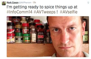 Twitter Round-Up: 'I'm getting ready to spice things up at #InfoComm14 #AVselfie'