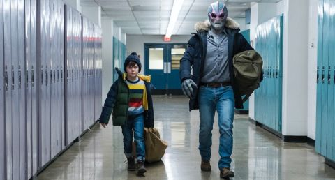 On 'Resident Alien,' Max (Judah Prehn) and Harry (Alan Tudyk) steal into the local high school to find equipment that might help them locate the missing pieces of a doomsday device.