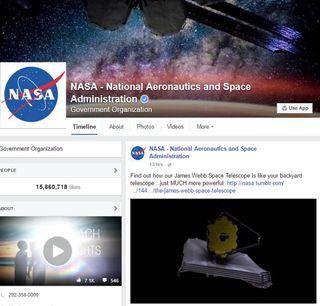 NASA's Facebook Page