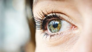 A close-up of a woman's eye.