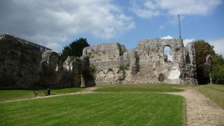 Historical texts indicate that after his death in 1135, King Henry I was interred in front of the high altar of Reading Abbey (shown here).