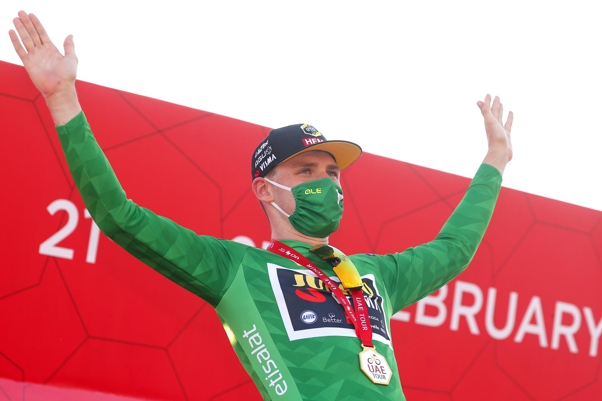 David Dekker (Jumbo-Visma) took the green points jersey at the UAE Tour