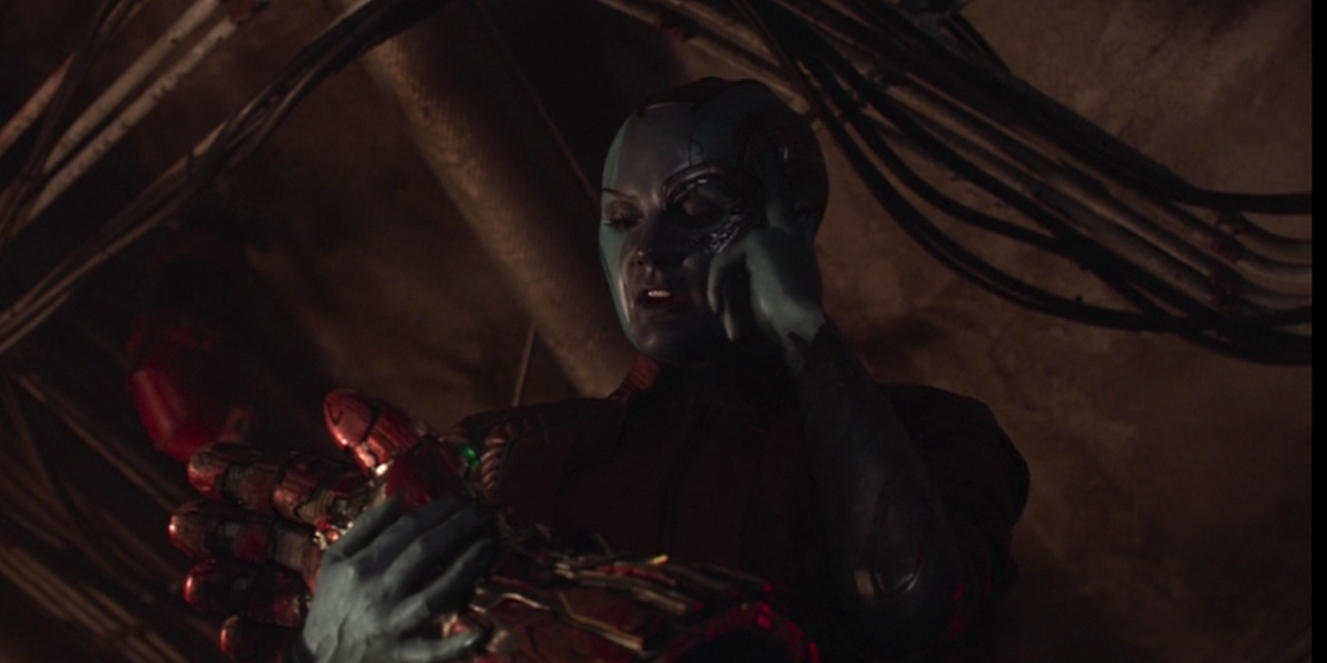 Nebula in Avengers: Endgame with the Gauntlet