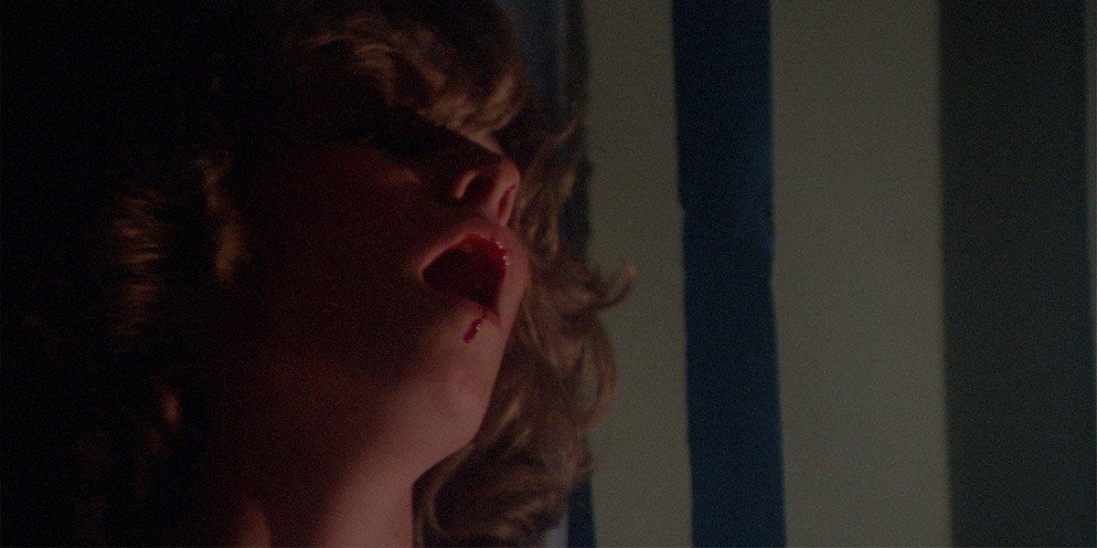 Betty Buckley as Miss Collins dies in Carrie