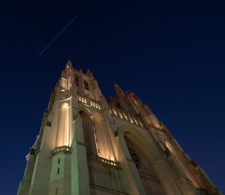ISS over Washington National Cathedral