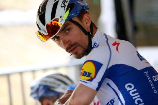 ZIPAQUIR COLOMBIA FEBRUARY 15 Start Julian Alaphilippe of France and Team Deceuninck Quick Step during the 3rd Tour of Colombia 2020 Stage 5 a 1805km stage from Paipa to Zipaquir TourColombiaUCI TourColombia2020 on February 15 2020 in Zipaquir Colombia Photo by Maximiliano BlancoGetty Images