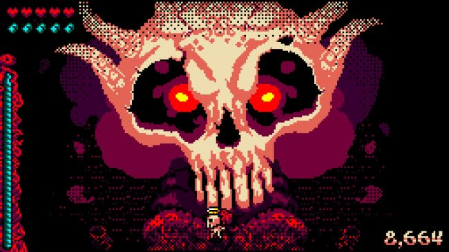 Skelly Selest looks like Enter the Gungeon by way of Devil Daggers