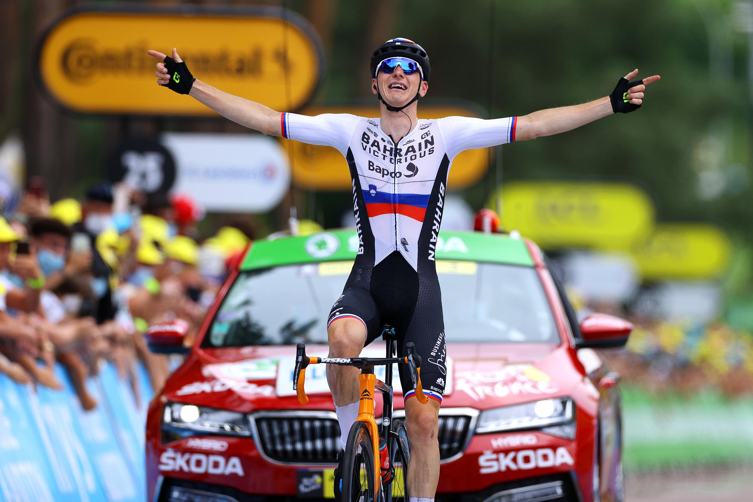 Matej Mohorič wins stage seven of the Tour de France 2021