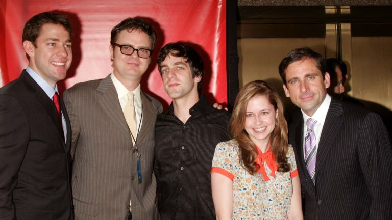 cast of The Office during 2005/2006 NBC UpFront - Outside Arrivals at Radio City Music Hall in New York City, New York, United States.