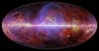 Milky Way Galaxy in Microwaves