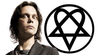 HIM frontman Ville Valo and his Heartagram symbol