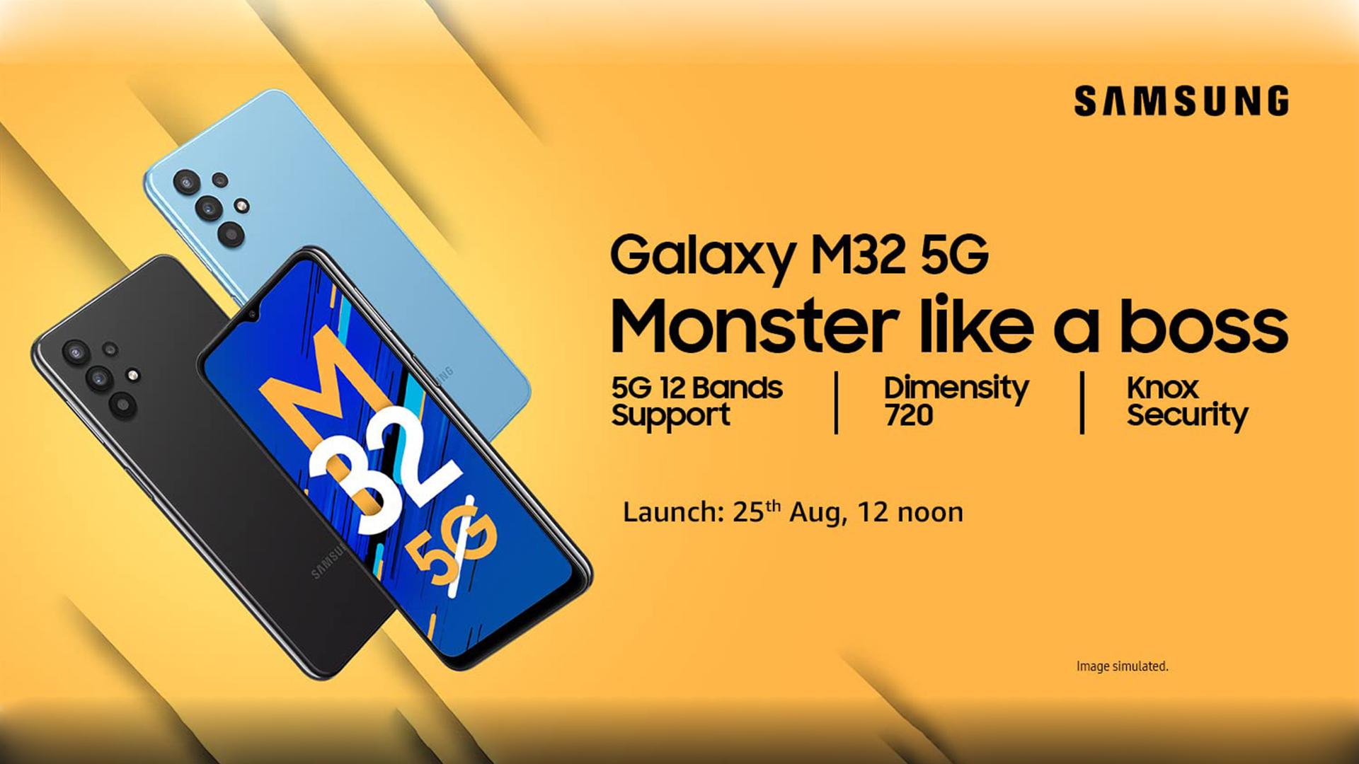 Samsung Galaxy M32 5G Amazon teaser