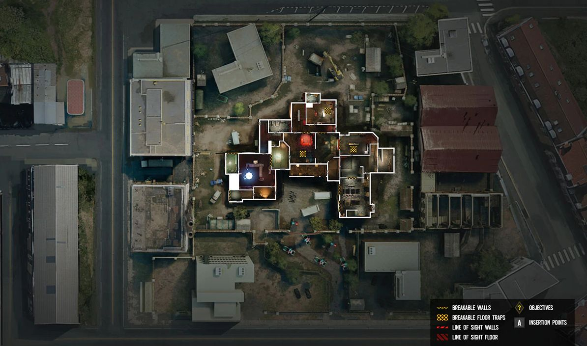 The Clubhouse map's ground floor