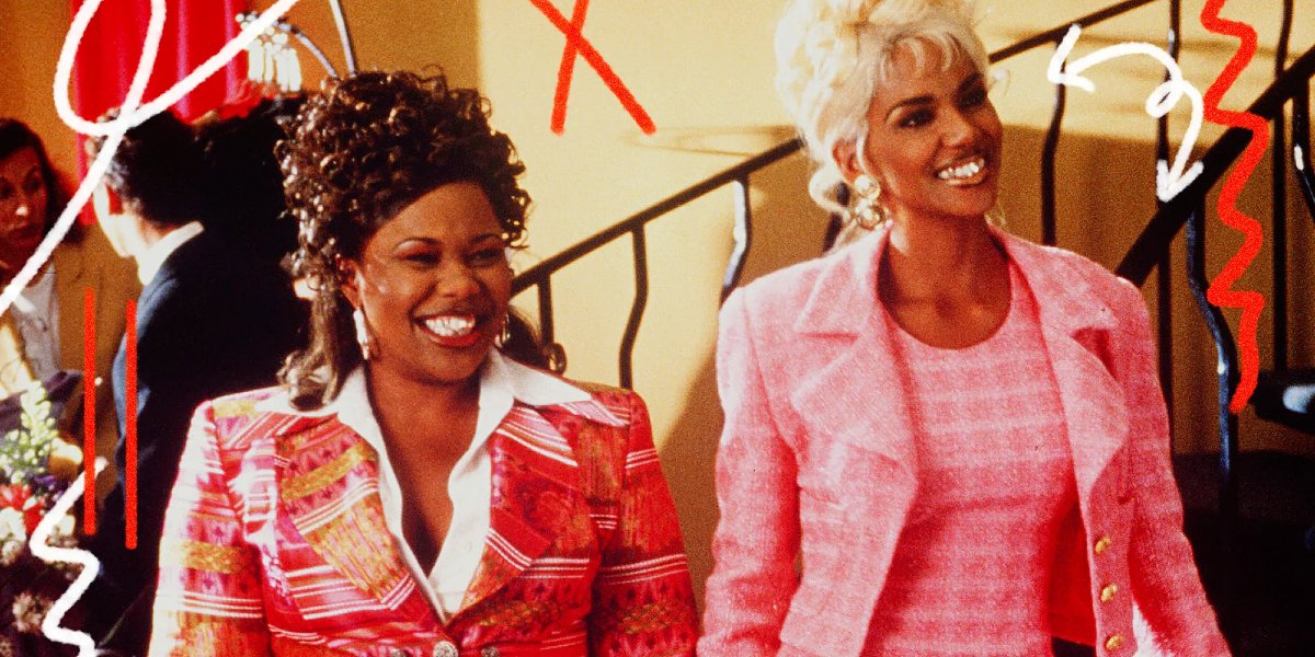 BAPS Natalie Desselle-Reid and Halle Berry flashing their smiles