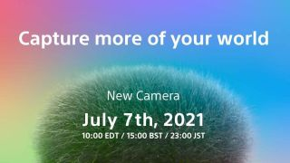 Teaser image of Sony camera launch