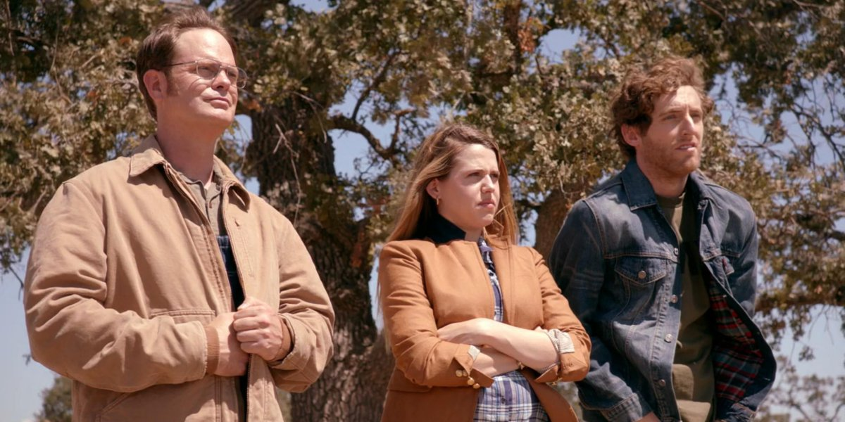 Rainn Wilson, Majandra Delfino, and Thomas Middleditch on The Office
