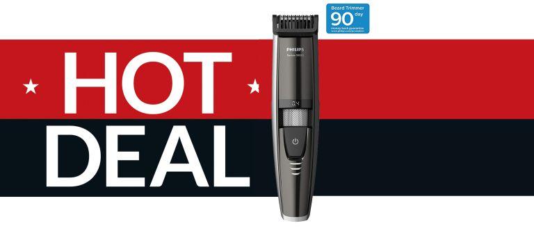 Best beard trimmer deal Philips Series 9000 beard trimmer
