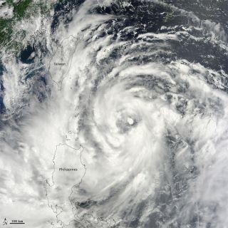 Typhoon Saola seen by satellite
