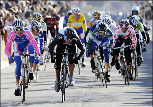 Greg Henderson wins, Paris-Nice 2010, stage one